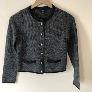 Ann Taylor Petite Studded Button Down Sweater